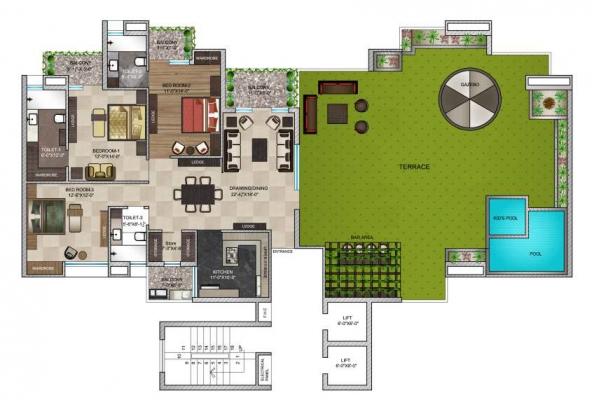 3 BHK penthouses