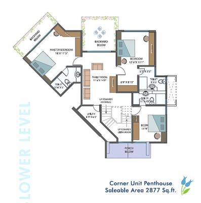 5th Floor Plan - Lower Level